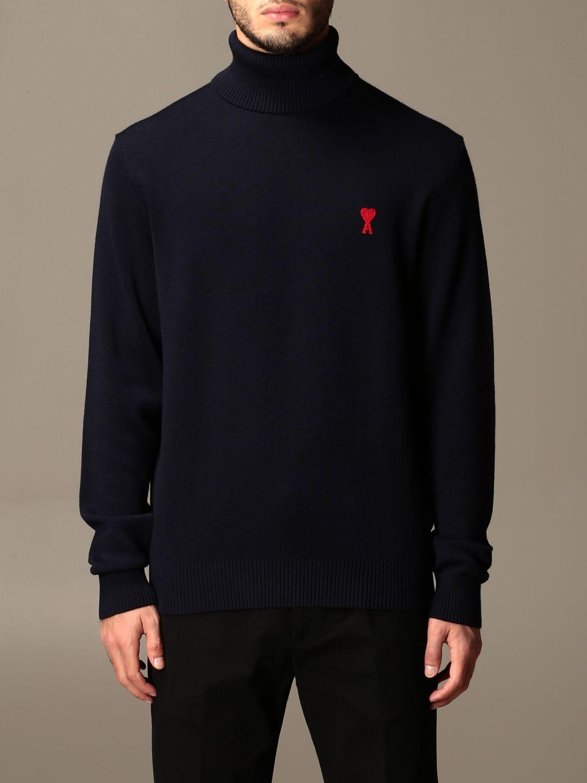 Sweater Ami Alexandre Mattiussi: Ami Alexandre Mattiussi turtleneck with logo navy 1