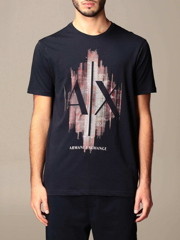 T-shirt Armani Exchange: Armani Exchange T-shirt with big logo navy 1