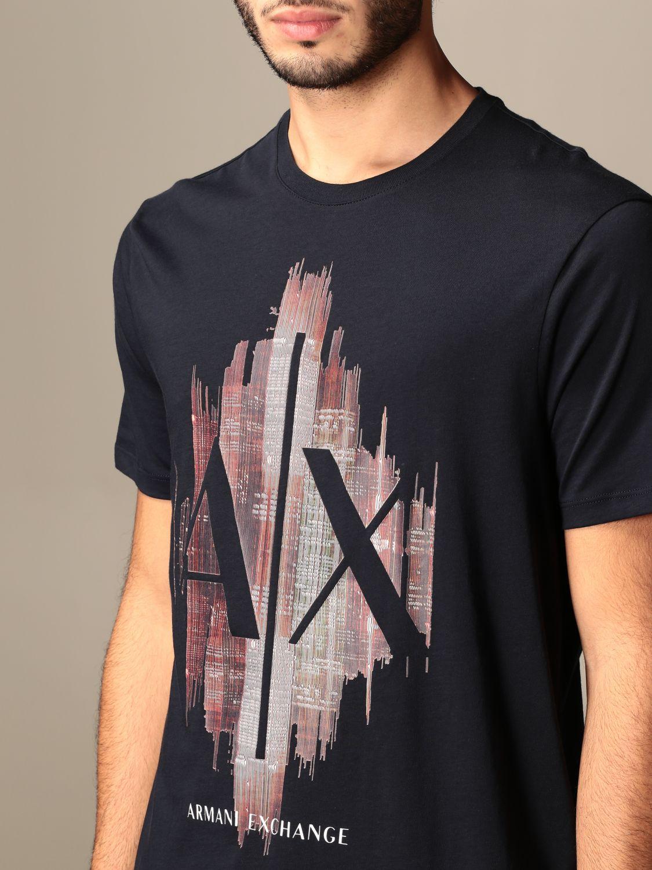 T-shirt Armani Exchange: Armani Exchange T-shirt with big logo navy 3
