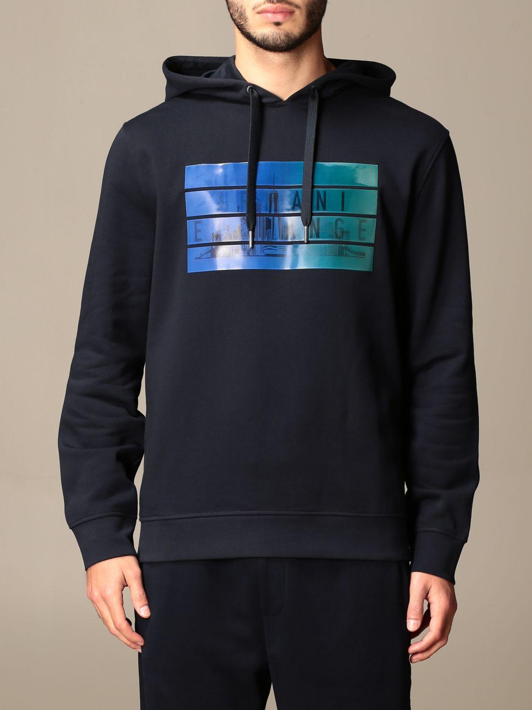 Sweatshirt Armani Exchange: Sweatshirt homme Armani Exchange bleu marine 1