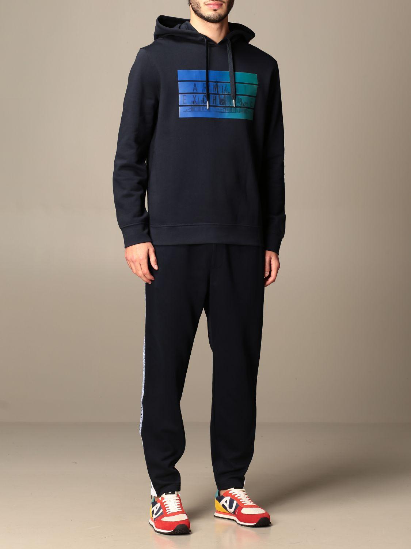 Sweatshirt Armani Exchange: Sweatshirt homme Armani Exchange bleu marine 2