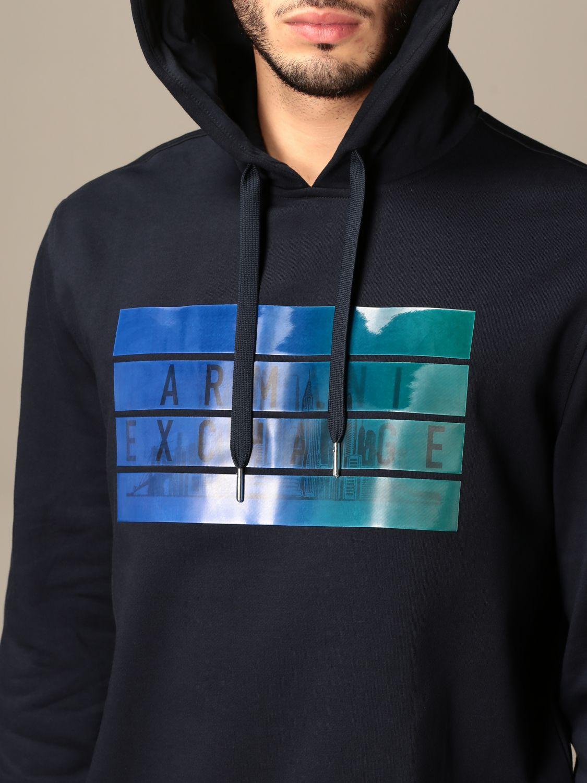 Sweatshirt Armani Exchange: Sweatshirt homme Armani Exchange bleu marine 4