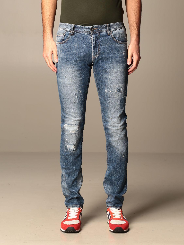 Jeans Armani Exchange: Jeans Armani Exchange in denim used con rotture denim 1
