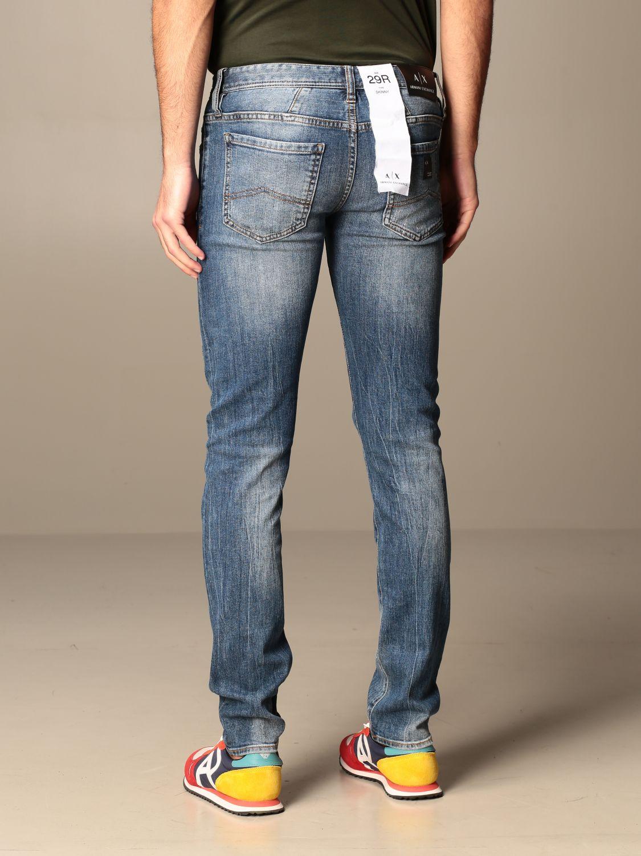 Jeans Armani Exchange: Jeans Armani Exchange in denim used con rotture denim 2