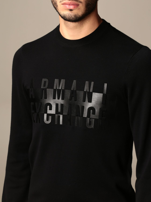 Jumper Armani Exchange: Jumper men Armani Exchange black 4