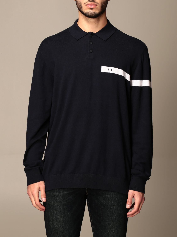 Polo shirt Armani Exchange: Jumper men Armani Exchange navy 1
