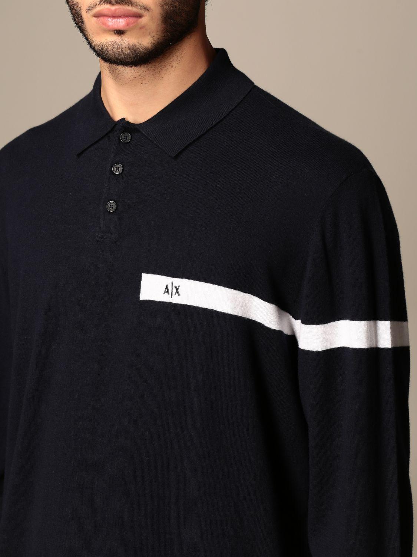 Polo shirt Armani Exchange: Jumper men Armani Exchange navy 3