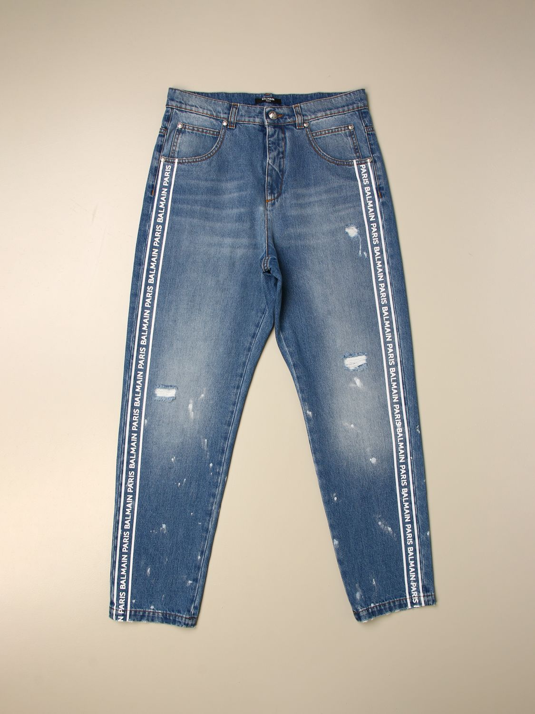 Pantalón Balmain: Pantalón niños Balmain azul oscuro 1