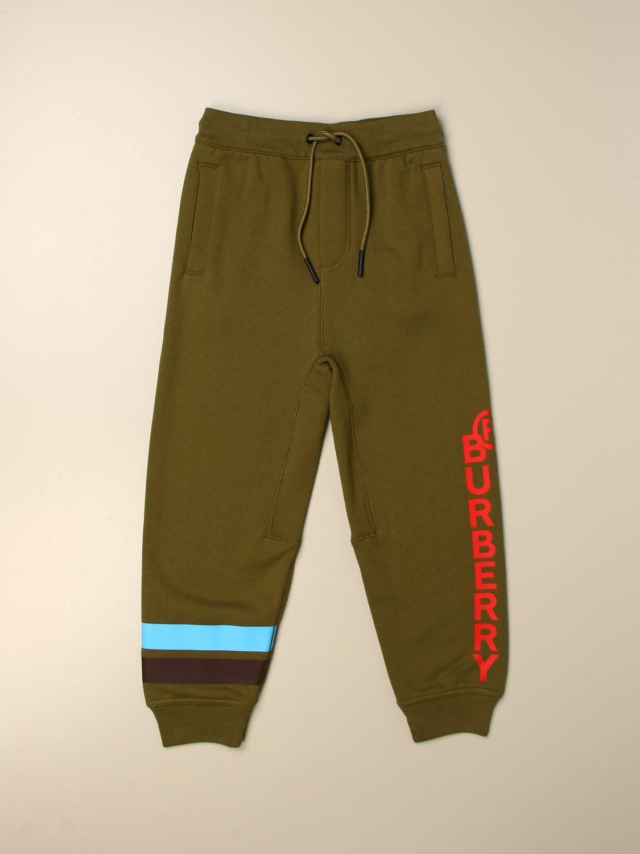 Pantalón Burberry: Pantalón niños Burberry verde 1