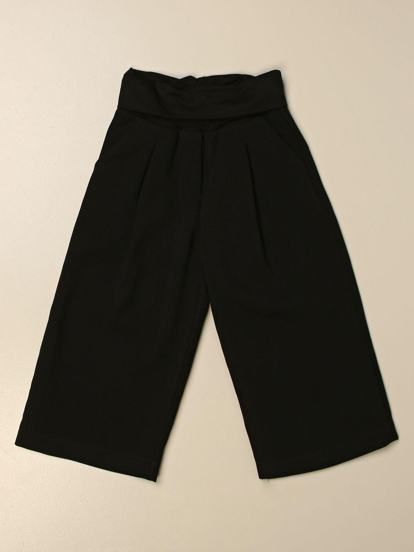 Pantalone Manila Grace: Pantalone ampio Manila Grace in cotone nero 1