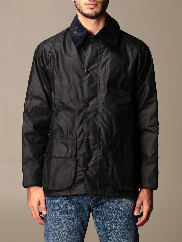 Jacket Barbour: Barbour jacket in coated cotton blue 1