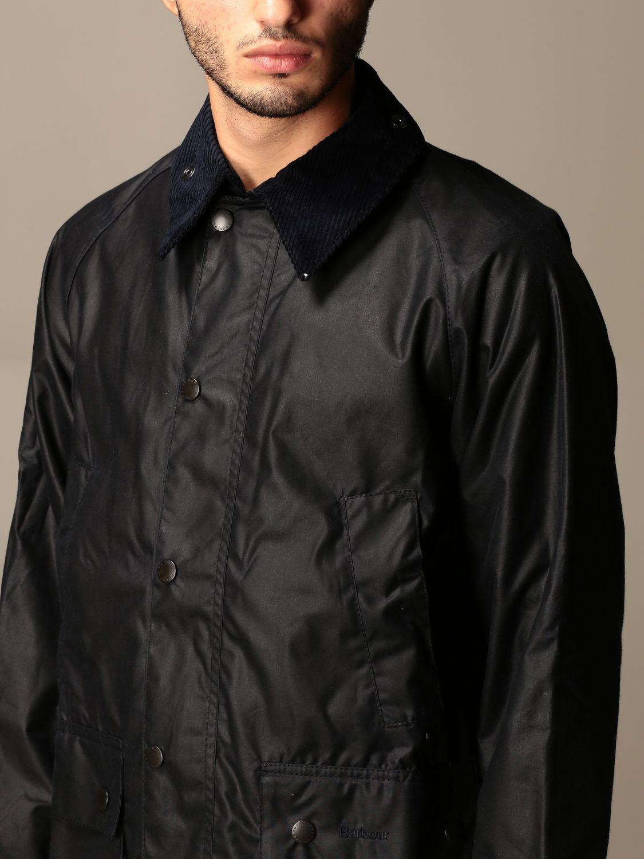 Jacket Barbour: Barbour jacket in coated cotton blue 3