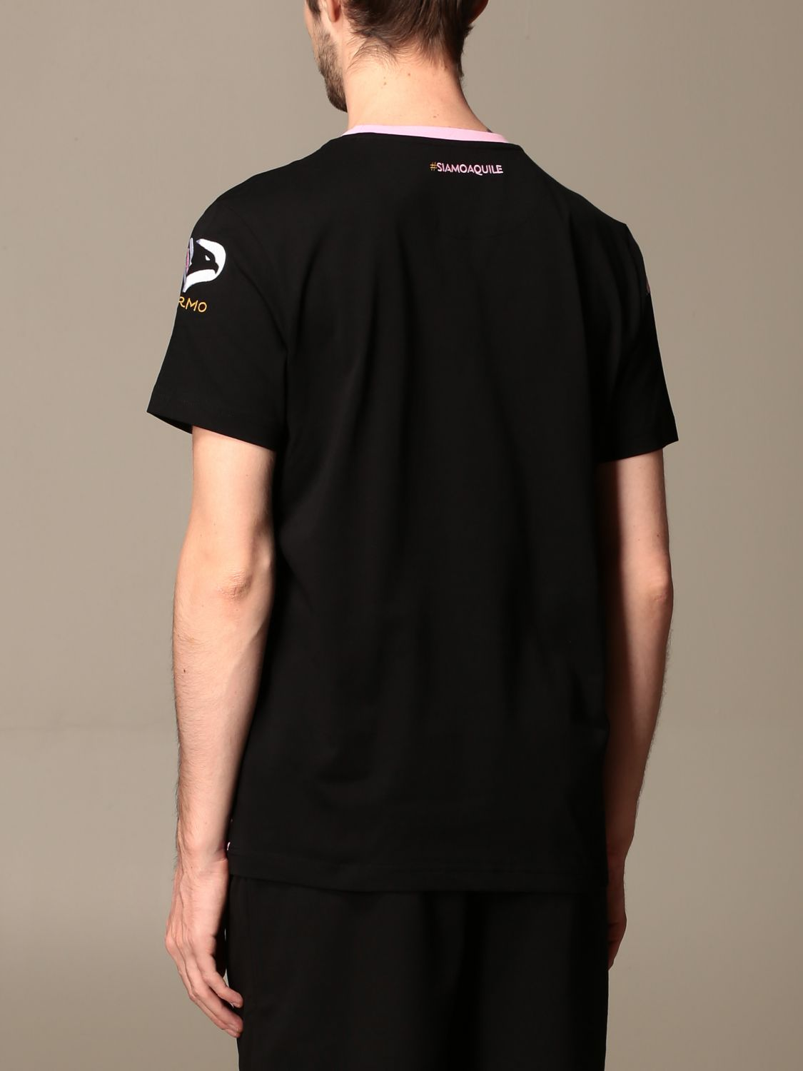 T-shirt Palermo: T-shirt amepot palermo in cotone nero 2
