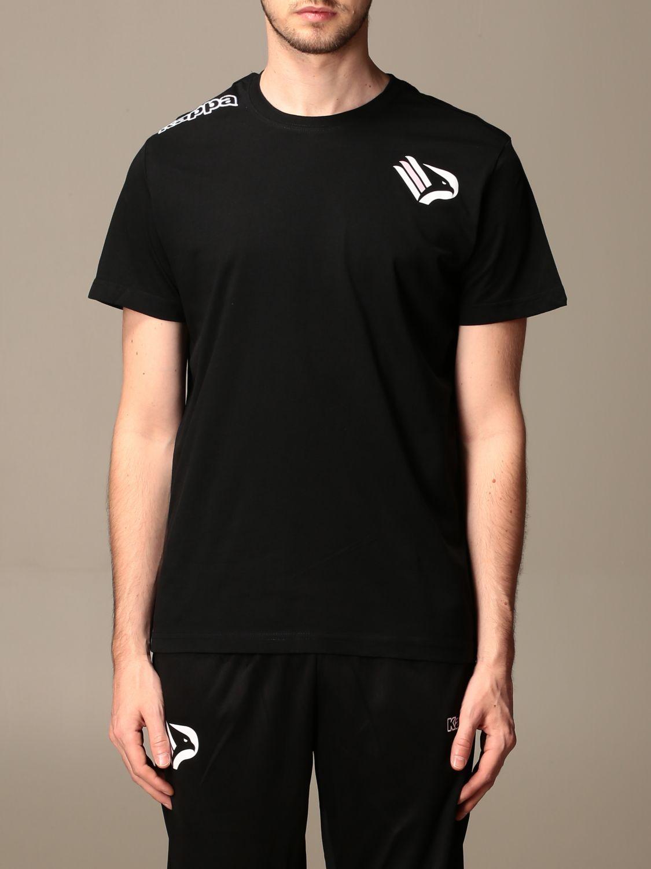 T-shirt Palermo: T-shirt kafers kappa da gara palermo in cotone nero 1