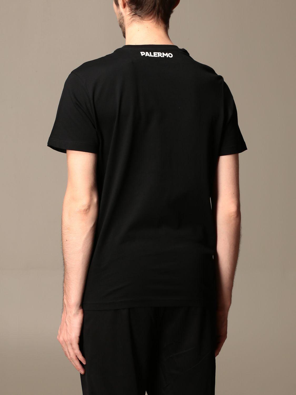 T-shirt Palermo: T-shirt kafers kappa da gara palermo in cotone nero 2