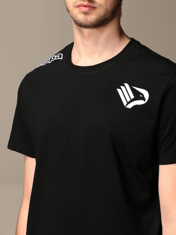 T-shirt Palermo: T-shirt kafers kappa da gara palermo in cotone nero 3
