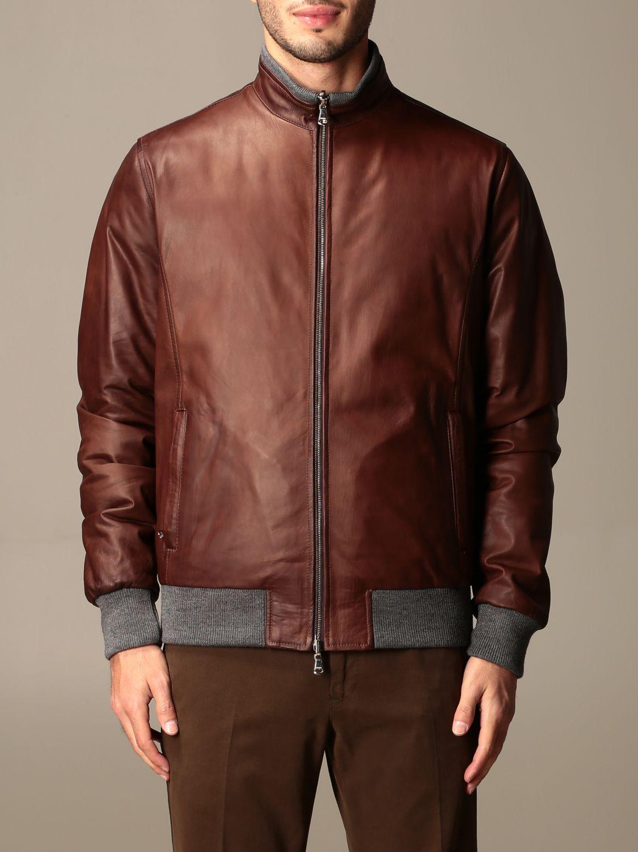Jacket Barba Napoli: Barba Napoli reversible jacket with zip dark 1
