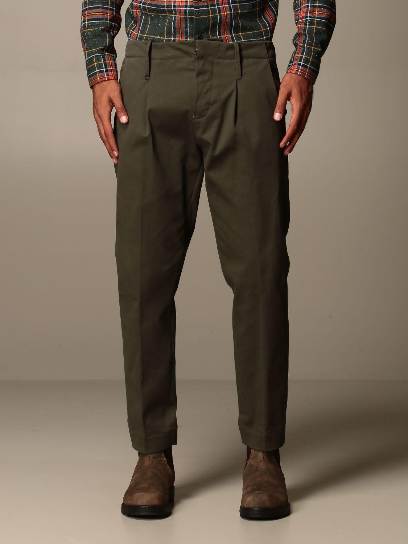 Trousers Alessandro Dell'acqua: Trousers men Alessandro Dell'acqua green 1