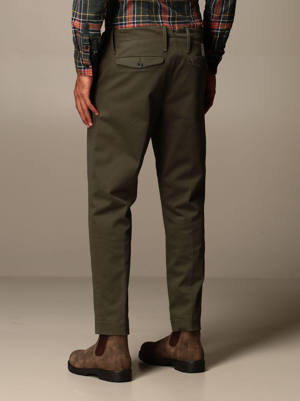 Trousers Alessandro Dell'acqua: Trousers men Alessandro Dell'acqua green 2