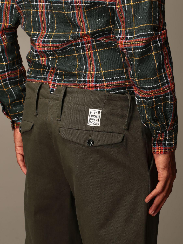 Trousers Alessandro Dell'acqua: Trousers men Alessandro Dell'acqua green 3