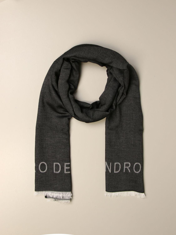 Scarf Alessandro Dell'acqua: Alessandro Dell'acqua double scarf grey 2