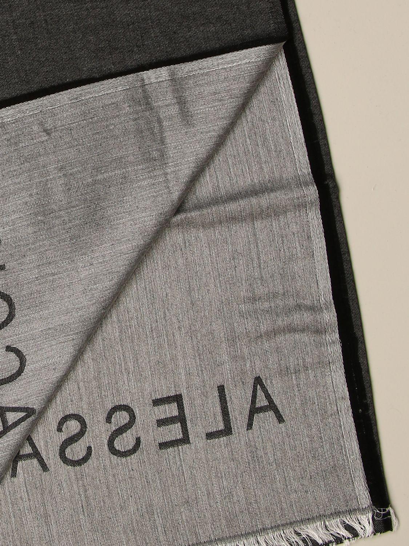 Scarf Alessandro Dell'acqua: Alessandro Dell'acqua double scarf grey 3