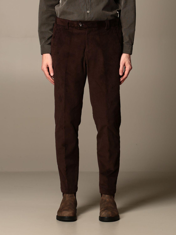 Pantalon Alessandro Dell'acqua: Pantalon homme Alessandro Dell'acqua marron 1