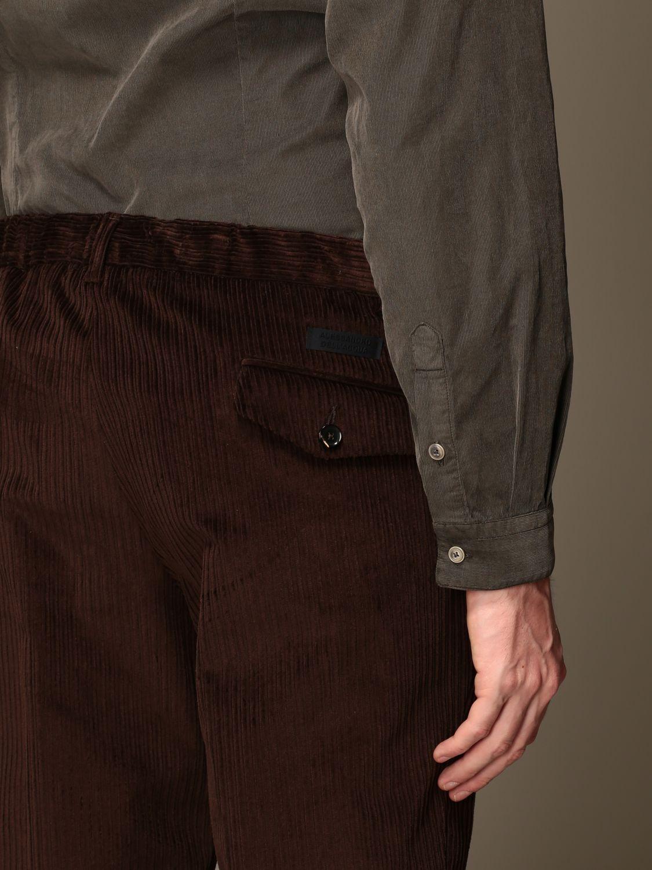 Pantalon Alessandro Dell'acqua: Pantalon homme Alessandro Dell'acqua marron 3