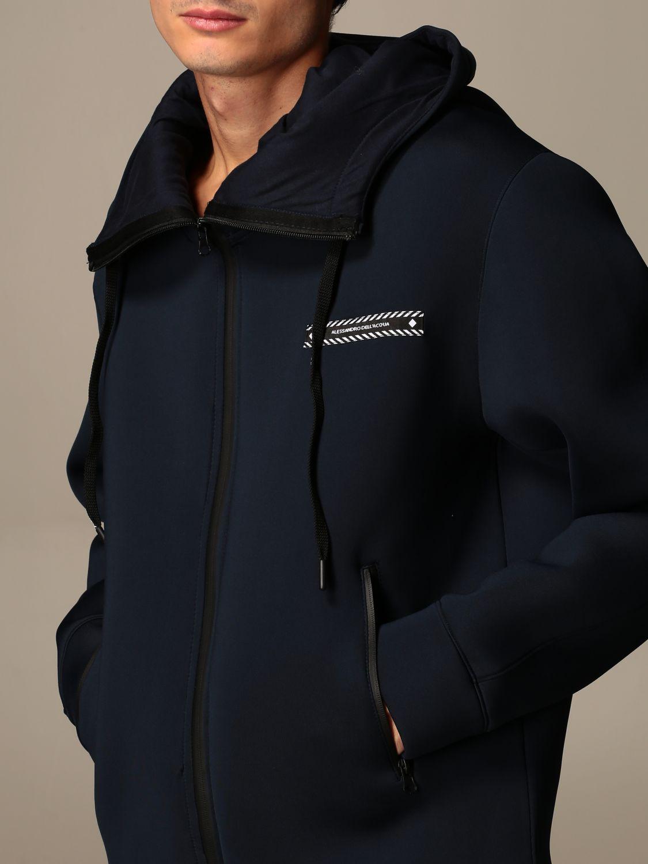 Sweatshirt Alessandro Dell'acqua: Pull homme Alessandro Dell'acqua bleu 3