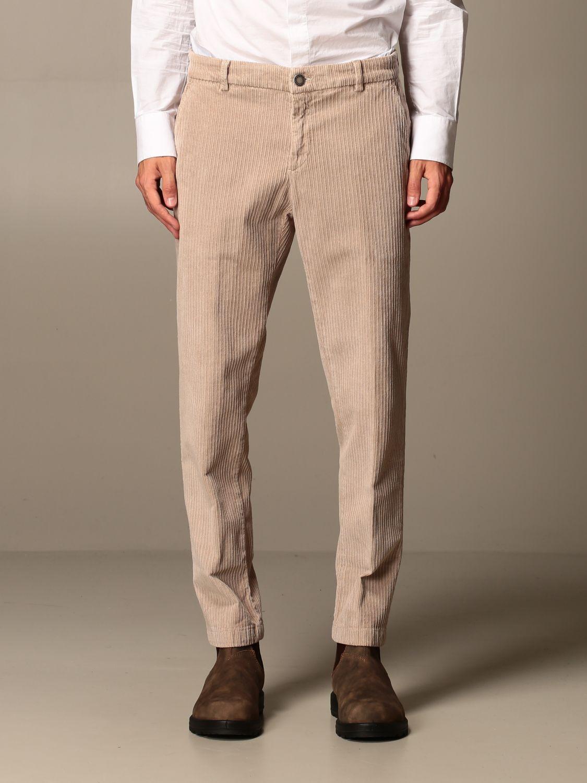 Trousers Alessandro Dell'acqua: Trousers men Alessandro Dell'acqua beige 1