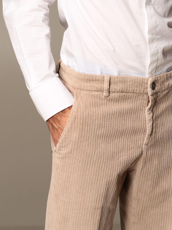 Trousers Alessandro Dell'acqua: Trousers men Alessandro Dell'acqua beige 3