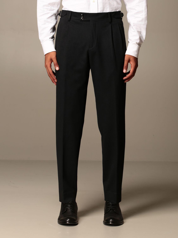 Trousers Alessandro Dell'acqua: Trousers men Alessandro Dell'acqua black 1