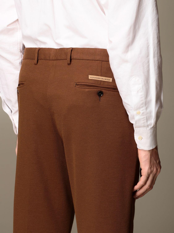 Trousers Alessandro Dell'acqua: Trousers men Alessandro Dell'acqua dove grey 4