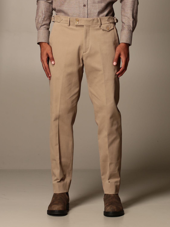 Pantalone Alessandro Dell'acqua: Pantalone Alessandro Dell'acqua in cotone beige 1