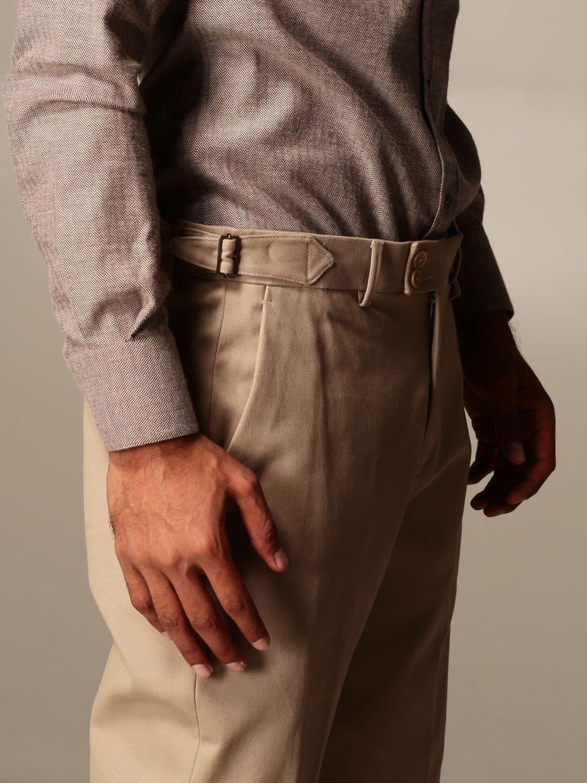 Pantalone Alessandro Dell'acqua: Pantalone Alessandro Dell'acqua in cotone beige 3