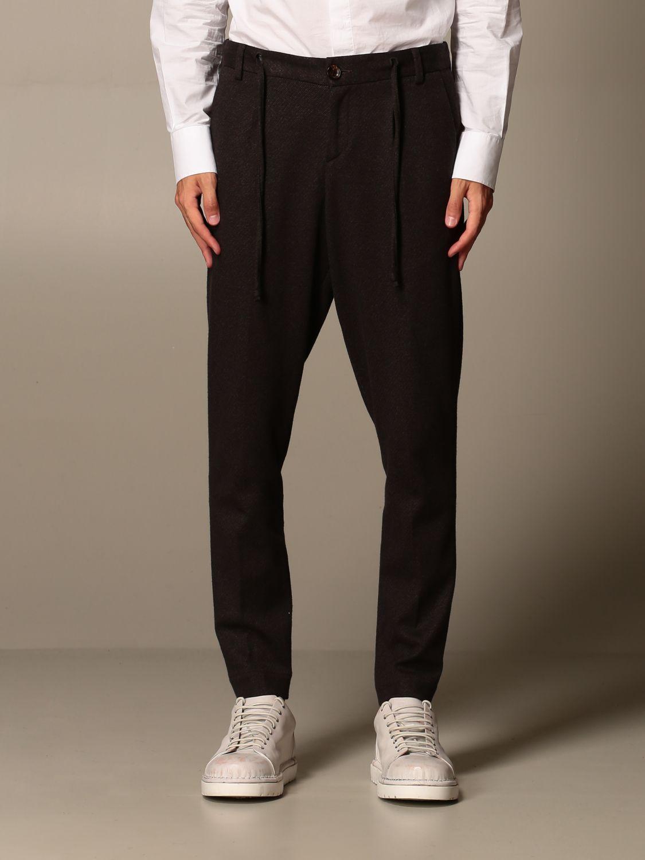 Pants Alessandro Dell'acqua: Alessandro Dell'acqua trousers in stretch cotton brown 1