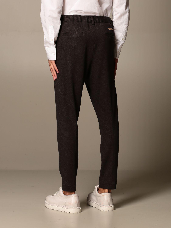 Pants Alessandro Dell'acqua: Alessandro Dell'acqua trousers in stretch cotton brown 2