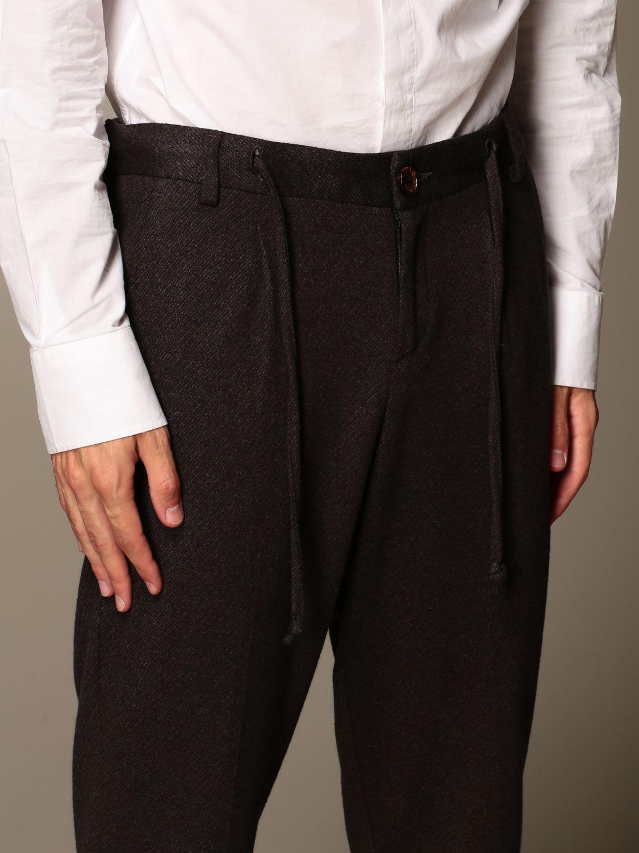 Pants Alessandro Dell'acqua: Alessandro Dell'acqua trousers in stretch cotton brown 3