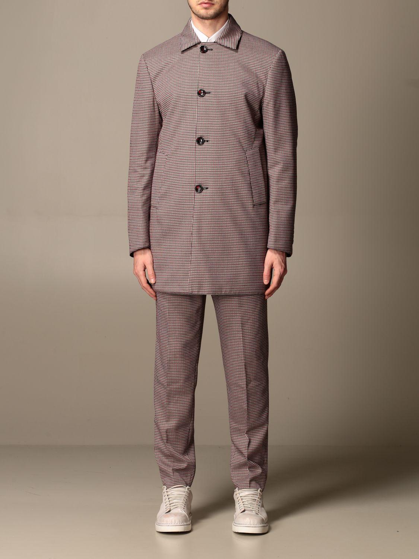 Jacket Alessandro Dell'acqua: Trench coat men Alessandro Dell'acqua burgundy 1