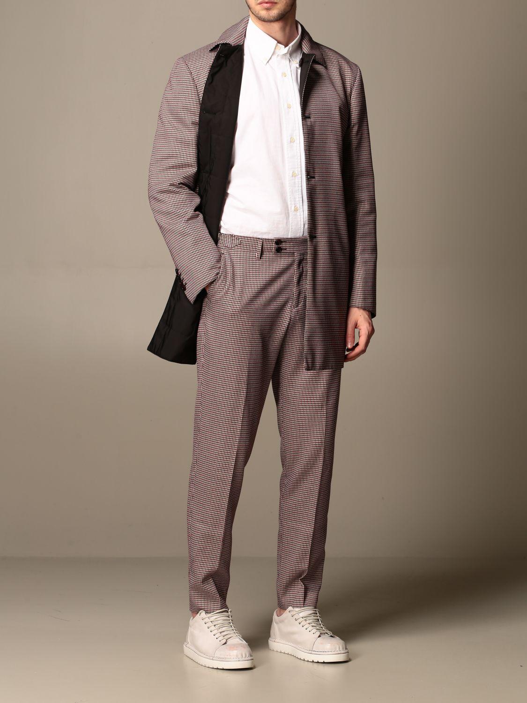 Jacket Alessandro Dell'acqua: Trench coat men Alessandro Dell'acqua burgundy 2