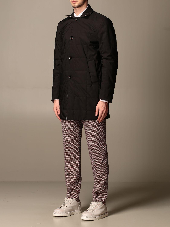 Jacket Alessandro Dell'acqua: Trench coat men Alessandro Dell'acqua burgundy 4
