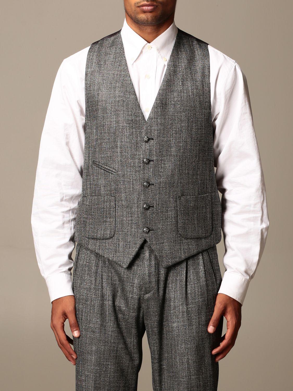 Waistcoat Alessandro Dell'acqua: Jacket men Alessandro Dell'acqua black 1