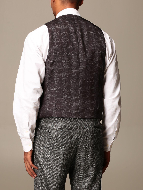 Waistcoat Alessandro Dell'acqua: Jacket men Alessandro Dell'acqua black 3