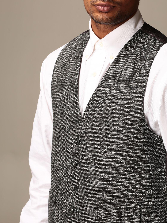 Waistcoat Alessandro Dell'acqua: Jacket men Alessandro Dell'acqua black 4