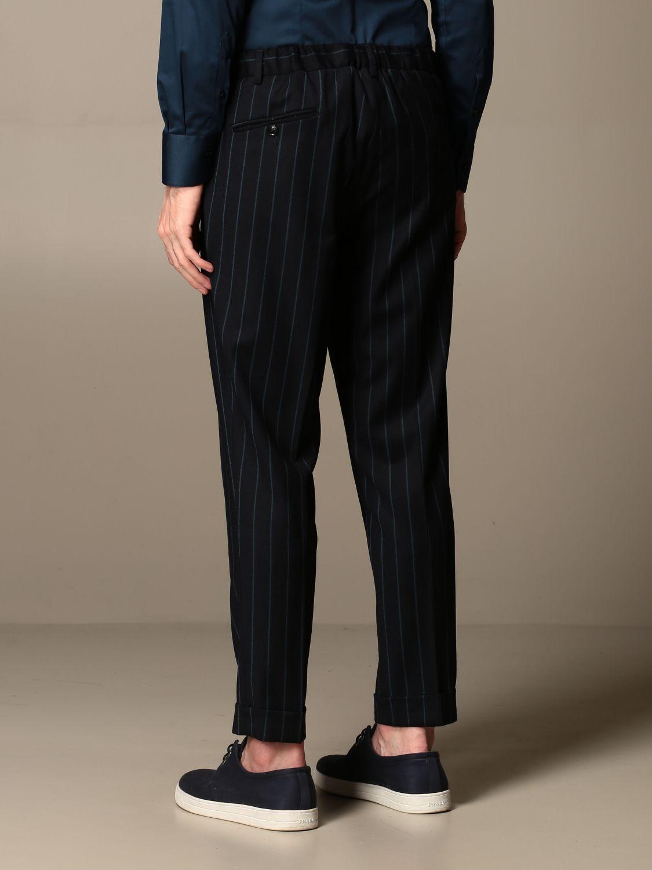Pants Alessandro Dell'acqua: Alessandro Dell'acqua trousers in striped virgin wool blue 2