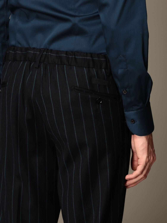Pants Alessandro Dell'acqua: Alessandro Dell'acqua trousers in striped virgin wool blue 3