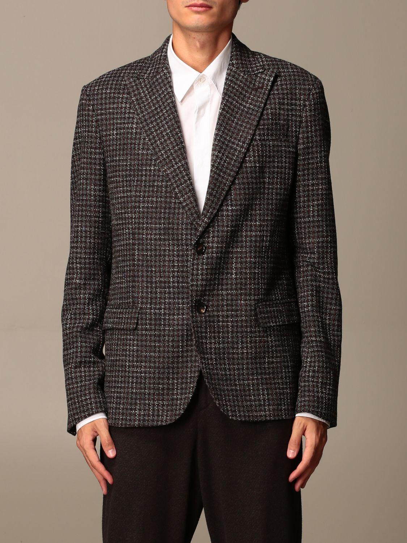 Jacket Alessandro Dell'acqua: Jacket men Alessandro Dell'acqua brown 1