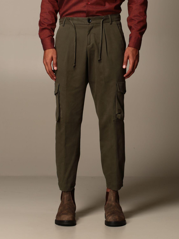 Pants Alessandro Dell'acqua: Alessandro Dell'acqua kargo trousers in cotton green 1