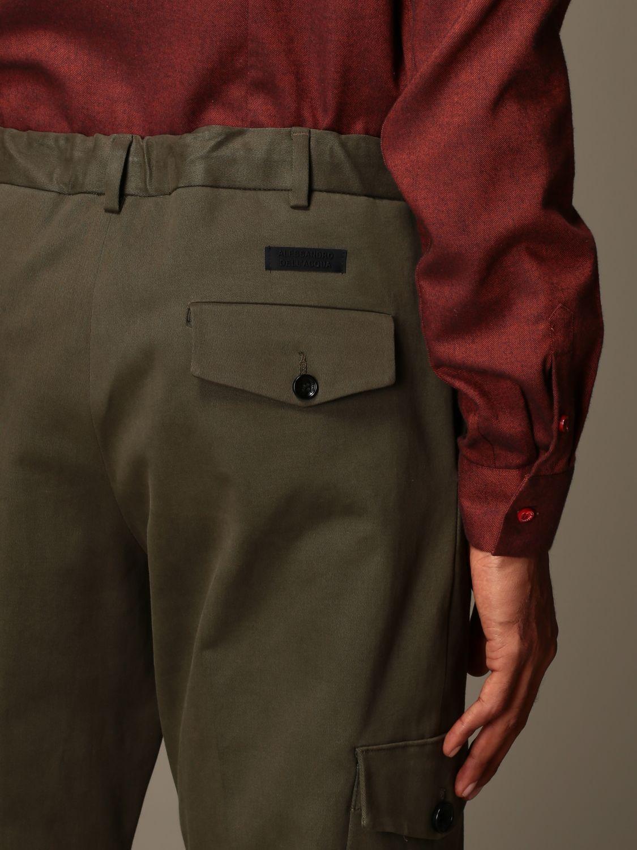 Pants Alessandro Dell'acqua: Alessandro Dell'acqua kargo trousers in cotton green 3