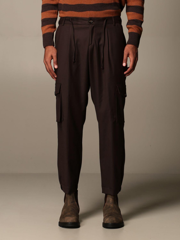 Trousers Alessandro Dell'acqua: Trousers men Alessandro Dell'acqua brown 1